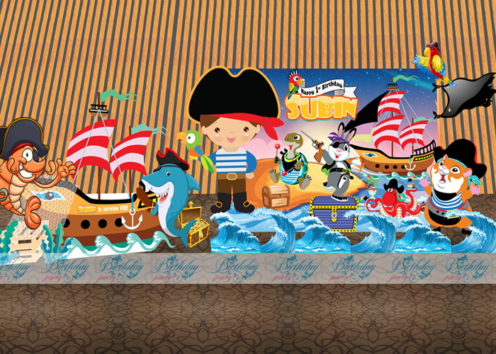 Trang trí sinh nhật chủ đề Cướp biển