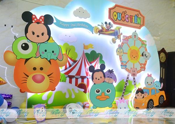Trang trí sinh nhật chủ đề Tsum Tsum