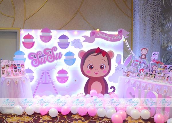 Trang trí sinh nhật chủ đề Monkey