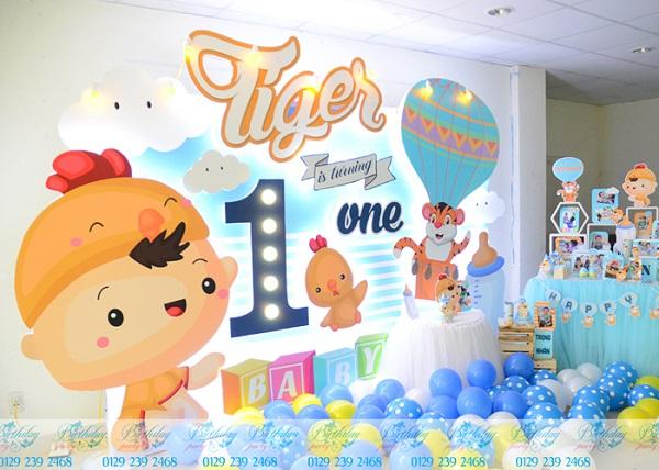 Trang trí sinh nhật chủ đề Gà con