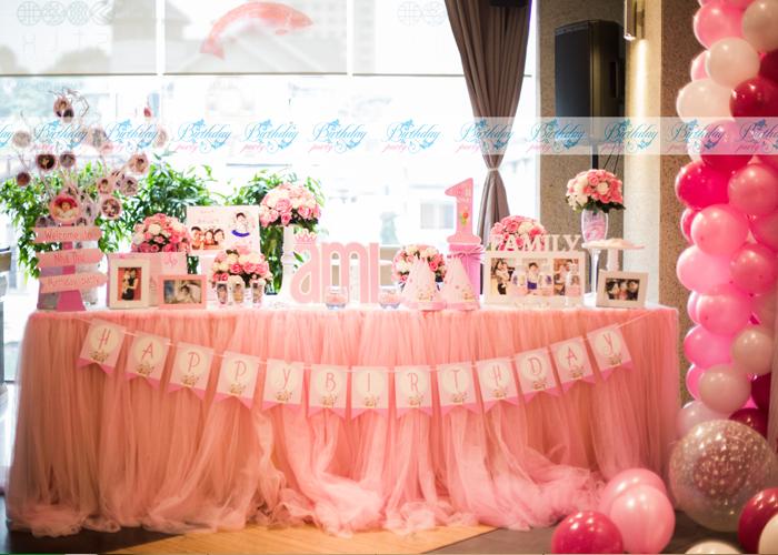 Trang trí sinh nhật - tông màu hồng ấn tượng