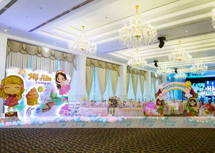 Trang trí tiệc thôi nôi- Chủ đề Princess