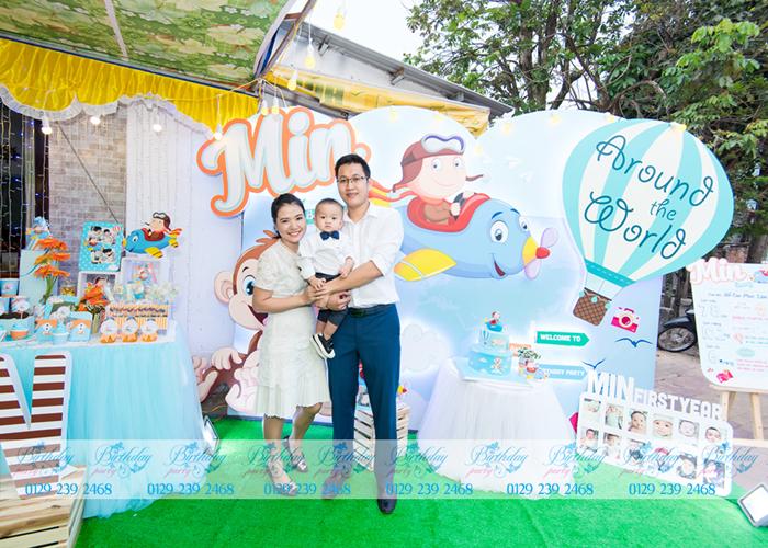 Sinh nhật bé Min với chủ đề Phi công tại dịch vụ tổ chức sinh nhật tại BirthdayParty